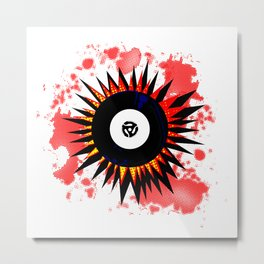 45 RPM Record Explosion Metal Print