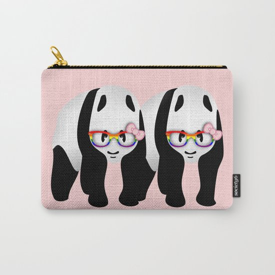 Lesbian  Gay Pride Pandas Carry-All Pouch