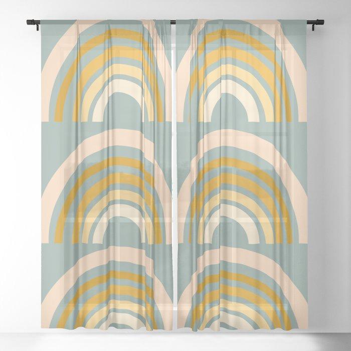 Autumn Rainbows Sheer Curtain