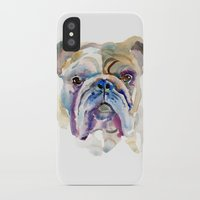 bulldog iPhone & iPod Cases featuring Bulldog by coconuttowers