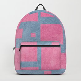 Textured squares Backpack