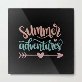SUMMER ADVENTURES Metal Print