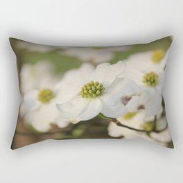 Dogwood Blossoms Rectangular Pillow