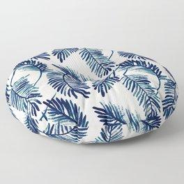 "Blue palm leaves pattern ""Pamela"" Floor Pillow"