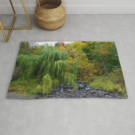 Weeping Willow Tree in Revelstoke BC, Canada Rug