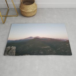 Longs Peak & Estes  Cone from Lily Mountain Rug