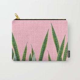 Snake plants with pink Carry-All Pouch