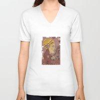 bath V-neck T-shirts featuring Swing bath by Judit Canela