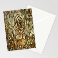 Golden Rose Pattern Art Stationery Cards