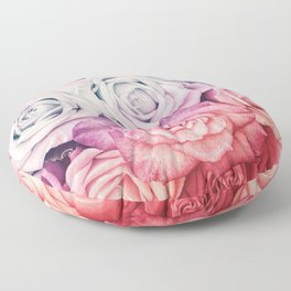 Some people grumble II  Floral rose flowers pink and multicolor Floor Pillow