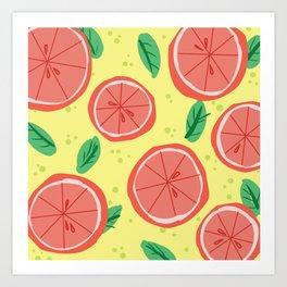 Grapefruit Summer Art Print
