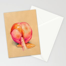 Juicy peach Stationery Cards