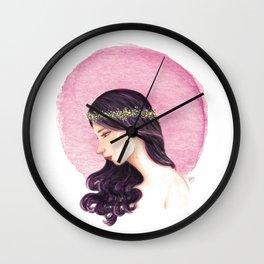 Purple Girl Wall Clock