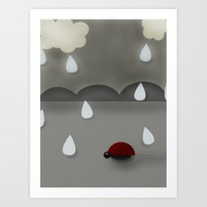 Run Lady Bug Art Print