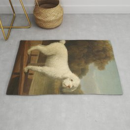 George Stubbs - White Poodle in a Punt Rug