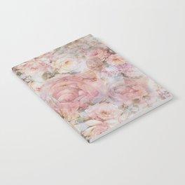 Vintage elegant blush pink collage floral typography Notebook