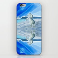 My Design - Beach with moon and horse iPhone & iPod Skin