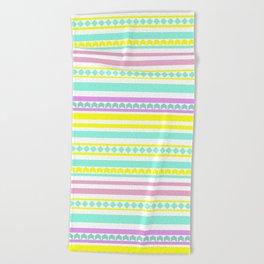Bright striped pattern Beach Towel