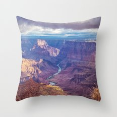 Grand Canyon and the Colorado River Throw Pillow