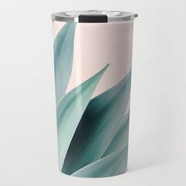Agave flare II - peach Travel Mug