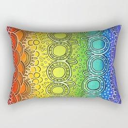 Rainbow Doodle Rectangular Pillow