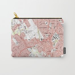 Lafayette Louisiana Map (1983) Carry-All Pouch