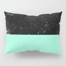 Mint Meets Black Marble #1 #decor #art #society6 Pillow Sham
