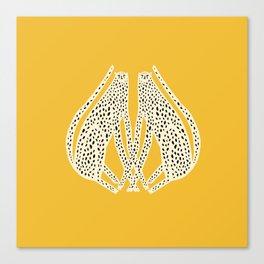 Snow Cheetahs Canvas Print