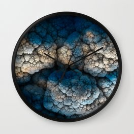Celestial Cauliflower Kiss Wall Clock