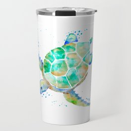 Turtle blue Travel Mug