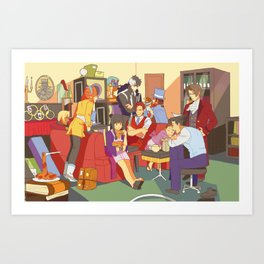 the wright anything agency Art Print