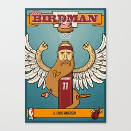 The Birdman Trading Card Canvas Print