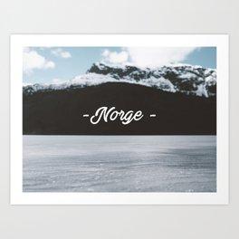 Norge Art Print