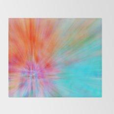 Abstract Big Bangs 002 Throw Blanket