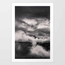 Within a Storm - Black and White Collection Art Print