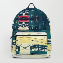 Tramway collage cityscape in Hong Kong Backpack