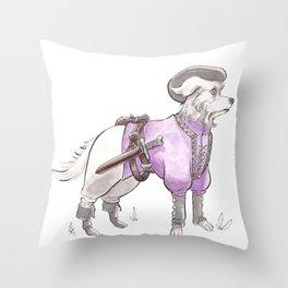 DogDays19 Falcor Throw Pillow