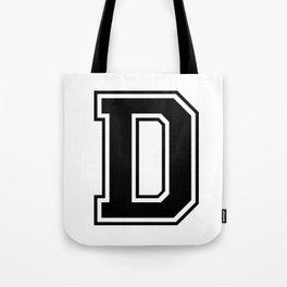UNIVERSITY D BLACK Tote Bag