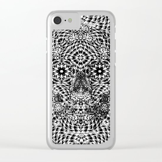 Skull VII Clear iPhone Case