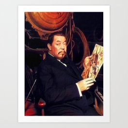 Warner Oland, Vintage Actor Art Print