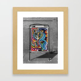 Black and White Street Art Color Photography Poster in Bologna Framed Art Print
