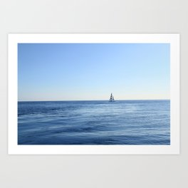 lonely boot Art Print