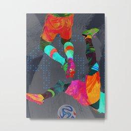 Tropical Soccer III Metal Print