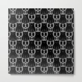 Skulls & Cats Dark Metal Print