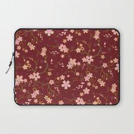 Red Sakura Batik Laptop Sleeve