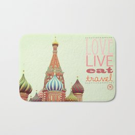 Love, Live, Eat, Travel Bath Mat