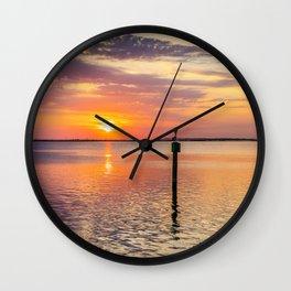 Pelican Stretch Sunset Wall Clock