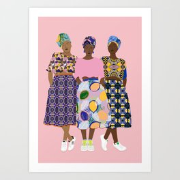 GIRLZ BAND Art Print