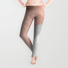 Rose Gold and Marble Leggings