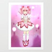 madoka magica Art Prints featuring Madoka by lazylogic
